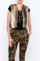 BB Dakota Cropped Faux Fur Vest