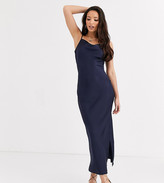 Glamorous Tall midaxi slip dress with cowl neck in satin
