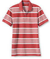 Classic Men's Short Sleeve Slim Fit Stripe Mesh Polo Shirt-Beach Red