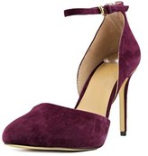 MICHAEL Michael Kors Georgia Ankle Strap Round Toe Suede Heels.