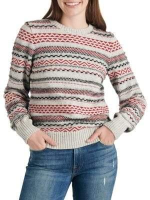 Lucky Brand Knit Fair Isle Pullover