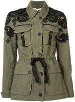 Veronica Beard drawstring fitted jacket - women - Cotton - 8