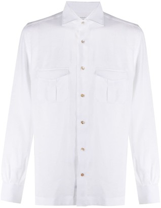 Mazzarelli Two-Pocket Buttoned Shirt