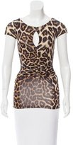 Just Cavalli Leopard Print Short Sleeve Top