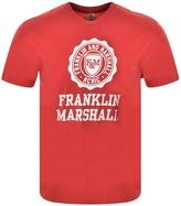Franklin & Marshall Franklin Marshall Logo T Shirt Red