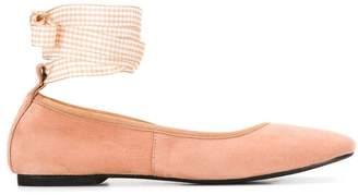 Danielapi ankle wrap ballerina shoes