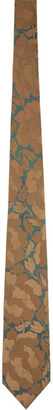 Dries Van Noten Beige Graphic Silk Tie
