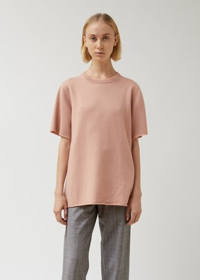 Extreme Cashmere Classic Pink Cashmere Round Neck T-Shirt