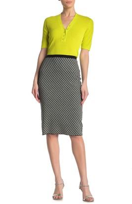 Diane von Furstenberg Mapel Patterned Pencil Skirt