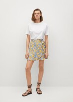 Thumbnail for your product : MANGO Wrap floral mini skirt