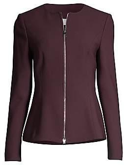 BOSS Women's Structured Pique Jersey Peplum Jacket