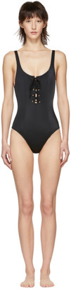 Solid and Striped Black The Sophia One-Piece Swimsuit