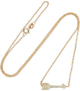 Jennifer Meyer Mini Arrow 18-karat Gold Diamond Necklace - one size
