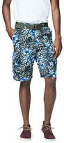 Aeropostale Mens Cape Juby Tropical Belted Cargo Shorts