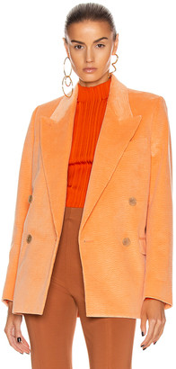 Acne Studios Corduroy Suit Jacket in Peach Orange | FWRD