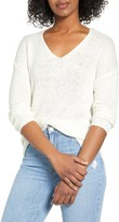 Cotton Emporium Ceny Open Stitch V-Neck Sweater