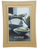 "Nambe 4"" x 6"" Beaded Gold Frame"