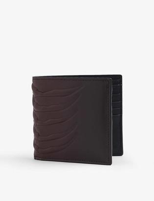 Alexander McQueen Skeleton-embossed leather wallet