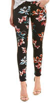 7 For All Mankind Seven 7 The Ankle Black Floral Skinny Leg
