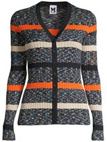 M Missoni Striped Cardigan Sweater