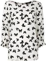Steffen Schraut butterflies print blouse - women - Silk/Spandex/Elastane - 38