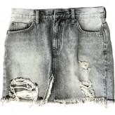 Free People Grey Denim - Jeans Skirts
