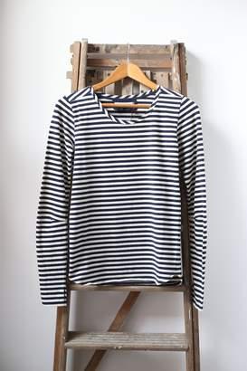 Humanoid Black White Stripe Carin Long Sleeve Top - XS - Black/White