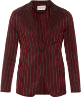 TOMORROWLAND Single-breasted striped satin blazer