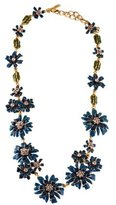 Oscar de la Renta Crystal Floral Necklace