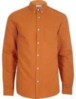 River Island Orange Casual Oxford Shirt