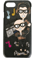 Dolce & Gabbana designer's patch iPhone 7 cases - men - Calf Leather/Cotton/Polyurethane/Polyester - One Size