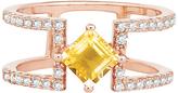 Bellissima Citrine & Rose Gold Princess-Cut Ring