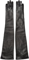 Ann Demeulemeester Black Long Joris Gloves