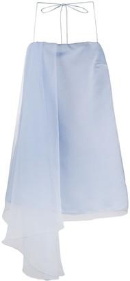 Pinko Draped-Panel Mini Dress