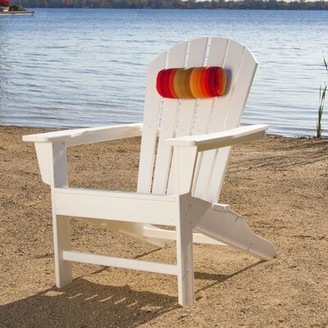 Polywood South Beach Plastic Adirondack Chair Color: White