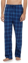 Mantaray Pack Of Two Blue Checked Loungewear Bottoms