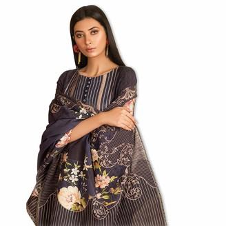 Khas Stores Indian Pakistani Dress KHADDAR Embroideried Casual WEAR Kameez Shalwar Dupatta Blue Large