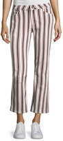 Paige Jocelyn Striped Straight-Leg Jeans, Multi Pattern
