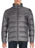 Saks Fifth Avenue Metallic Moto Down Jacket