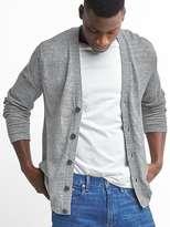 Gap Cotton-linen V-neck cardigan