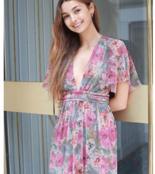 Margaux Lurex Floral Maxi Dress