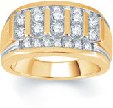 JCPenney FINE JEWELRY Mens 1 CT. T.W. Diamond 10K Yellow Gold Ring
