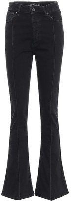 Y/Project High-rise slim flared jeans