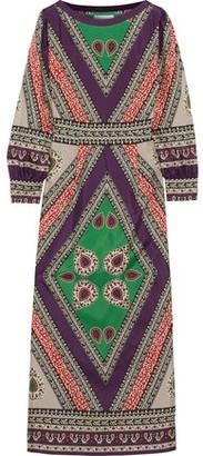 Antik Batik Oriana Printed Silk Maxi Dress