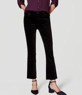 LOFT Petite Velvet Flare Crop Pants