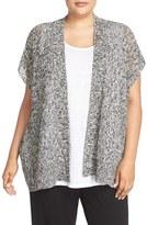 Eileen Fisher Plus Size Women's Open Stitch Short Sleeve Cardigan