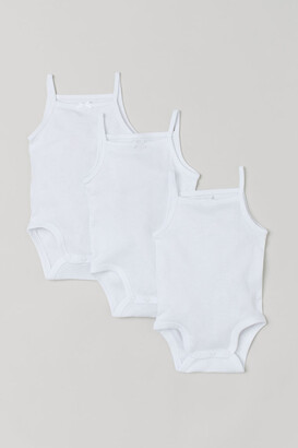 H&M 3-pack Bodysuits - White