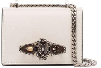 Alexander McQueen Butterfly Lizard Effect Shoulder Bag