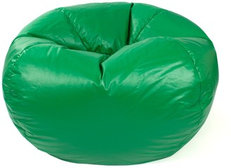 Gold Medal Medium Faux-Leather Bean Bag Chair
