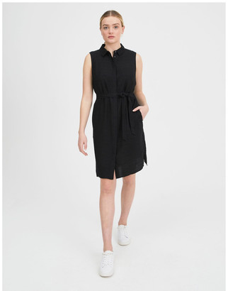 Tokito Belted Sleeveless Shirt Dress With Pockets